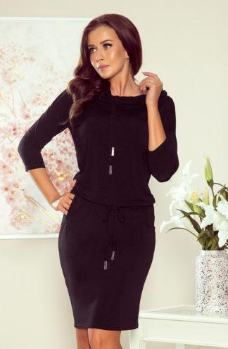Sportowa sukienka z golfem czarna