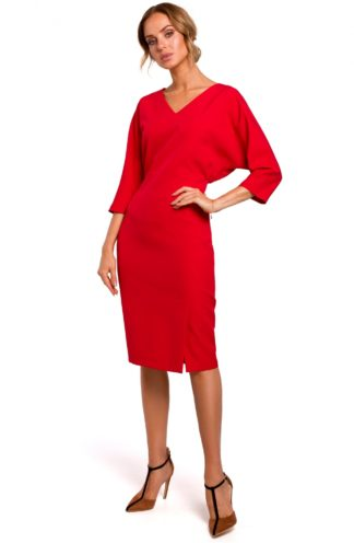 Sukienka z luźniejsza górą czerwona