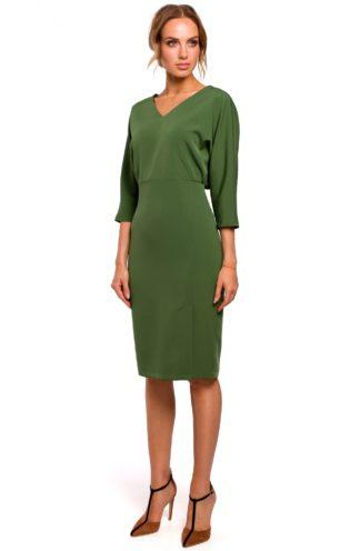 Sukienka z luźniejsza górą zielona