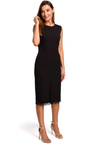 Prosta sukienka midi czarna