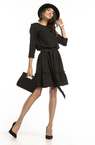 Sukienka mini z wiązaniem czarna
