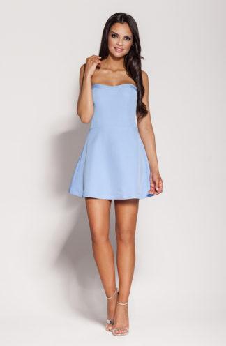 Gorsetowa mini sukienka niebieska