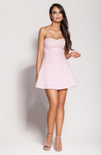 Gorsetowa mini sukienka różowa