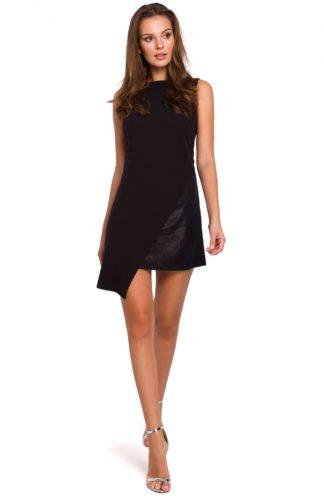 Wieczorowa sukienka bez rękawów czarna