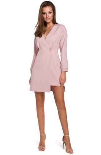 Asymetryczna sukienka mini różowa