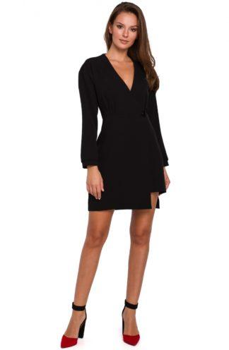 Asymetryczna sukienka mini czarna