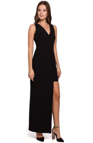 Asymetryczna sukienka maxi czarna