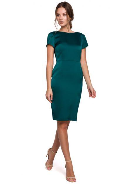 Wizytowa sukienka ołówkowa zielona