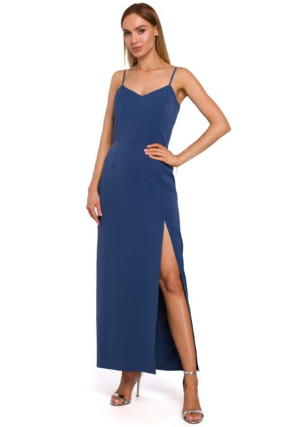 Prosta sukienka maxi niebieska