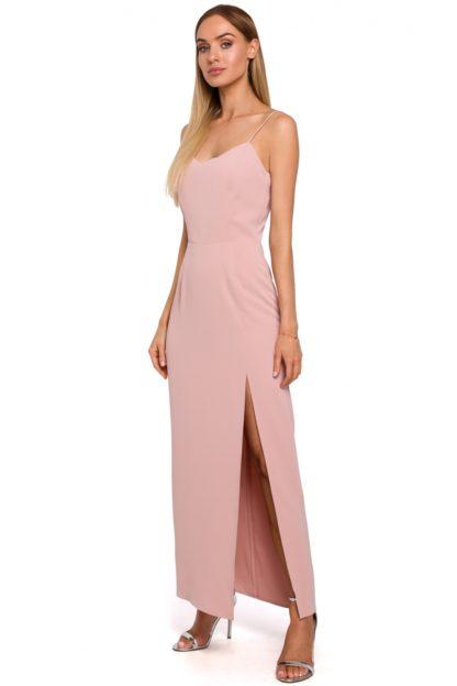 Prosta sukienka maxi różowa