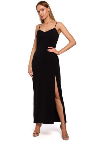 Prosta sukienka maxi czarna