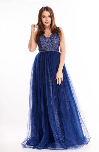 Ekskluzywna suknia maxi z tiulu