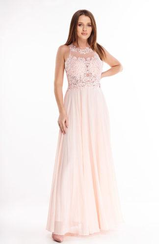 Ekskluzywna tiulowa sukienka maxi