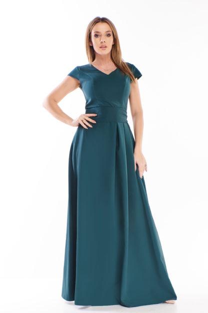 Prosta sukienka maxi z wiązaniem