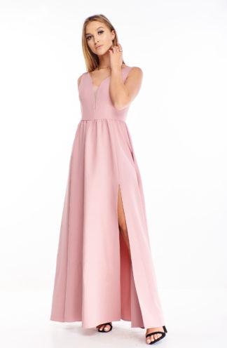 Elegancka sukienka maxi na ramiączkach