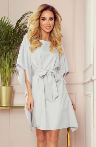 Sukienka nietoperz z rękawami szara