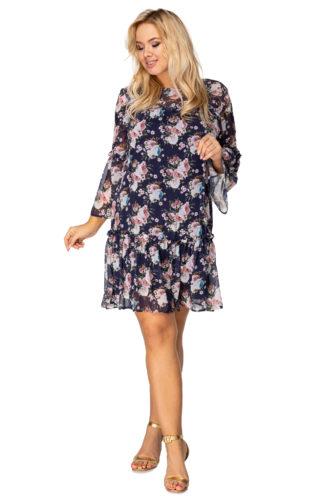Zwiewna sukienka w kwiaty