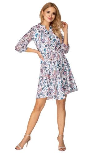 Sukienka z wiązaniem we wzory