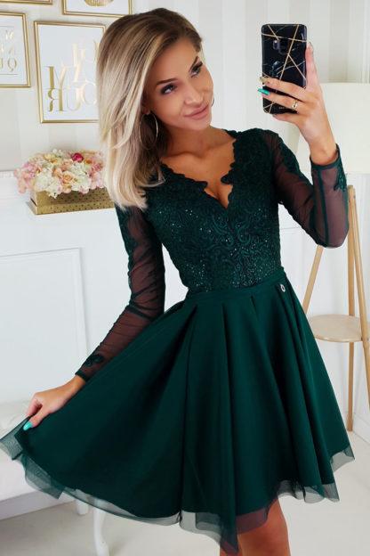 Sukienka z koronkowym wykończeniem PLUS SIZE