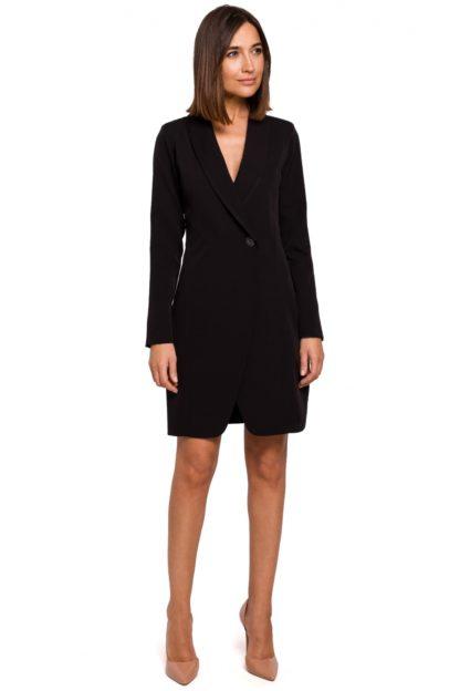 Sukienka marynarka z rękawami czarna