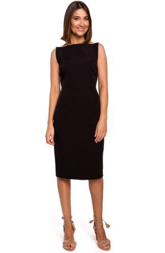 Prosta ołówkowa sukienka czarna