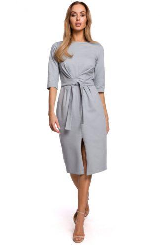 Bawełniana sukienka midi szara