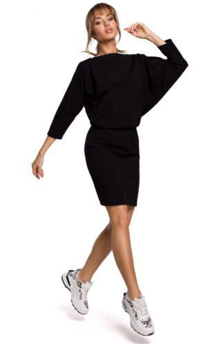 Sportowa sukienka z dekoltem na plecach czarna