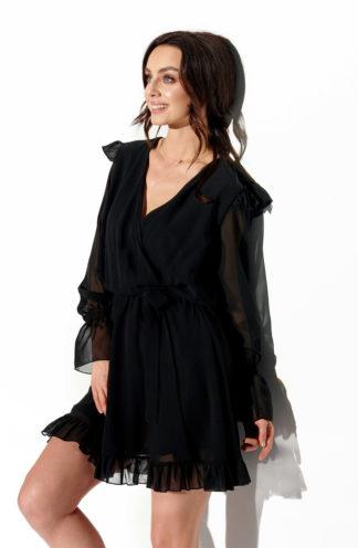 Wieczorowa sukienka z szyfonu czarna