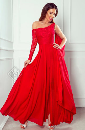 Sukienka maxi na jedno ramię