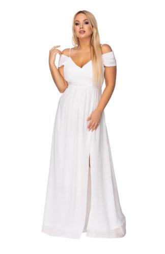 Sukienka maxi z opadającymi ramionami