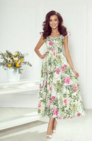 Ekskluzywna sukienka hiszpanka we wzory