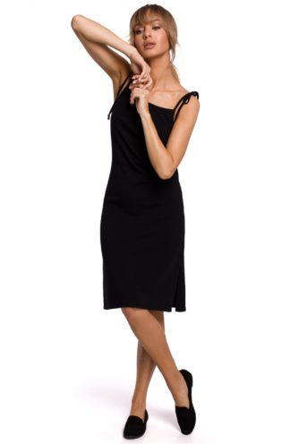 Prosta sukienka na ramiączkach czarna
