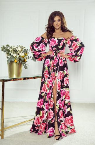 Ekskluzywna długa suknia hiszpanka