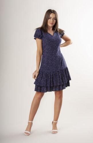 Sukienka z falbankami w groszki