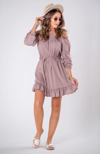 Letnia sukienka hiszpanka z wiązaniem
