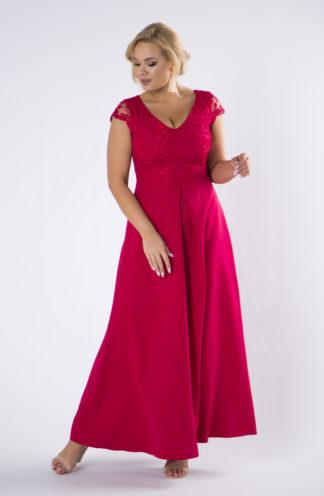 Wieczorowa sukienka maxi z dekoltem