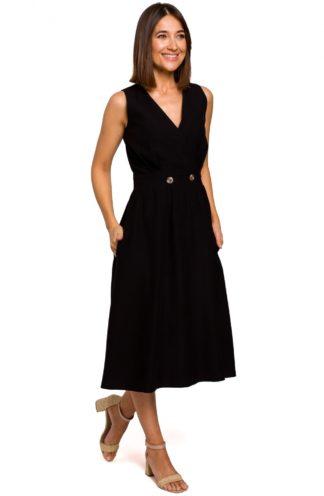 Biznesowa sukienka midi czarna