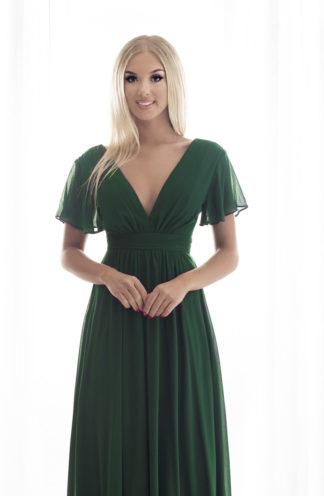Szyfonowa sukienka maxi zieleń