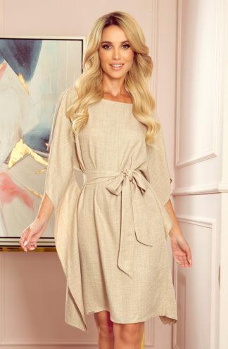 Sukienka nietoperz z rękawami beżowy