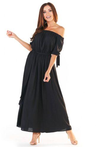 Letnia sukienka hiszpanka maxi czarna
