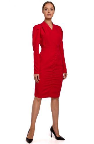 Ekskluzywna sukienka biznesowa czerwona