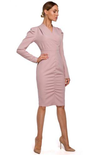 Ekskluzywna sukienka biznesowa różowa