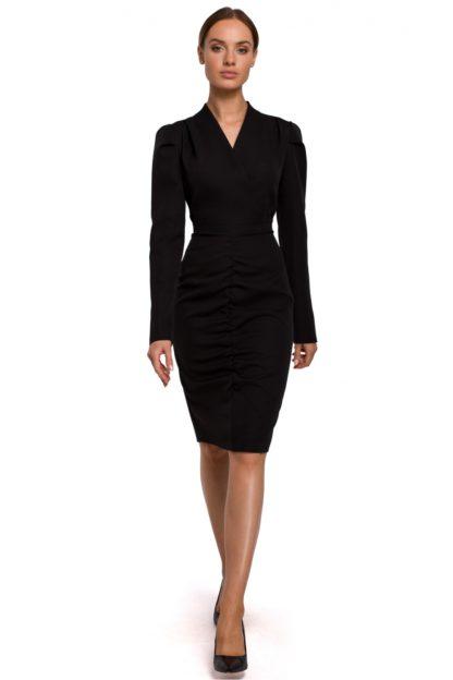 Ekskluzywna sukienka biznesowa czarna