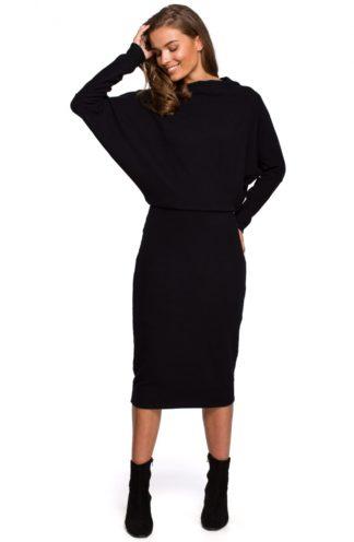 Bawełniana sukienka z luźną górą czarna