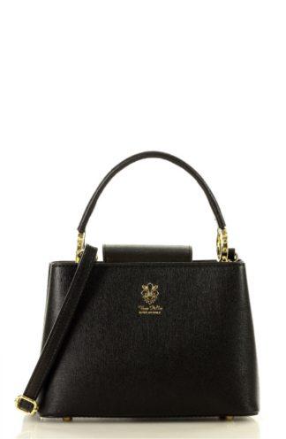 Elegancki kuferek ze skóry czarny