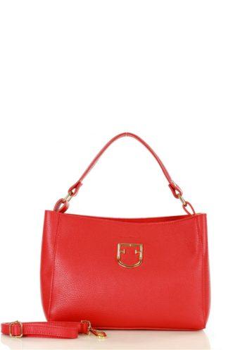 Elegancka torebka skórzana czerwona