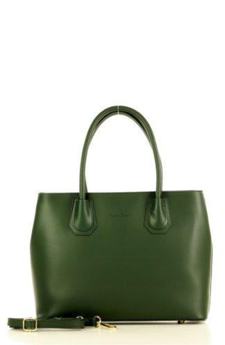 Klasyczna torebka biznesowa zielona