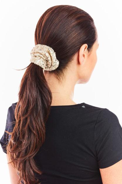 Cekinowa gumka do włosów