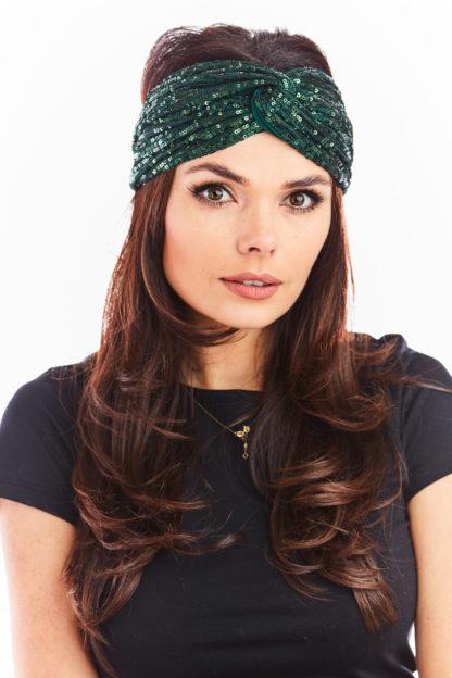 Cekinowa opaska turban