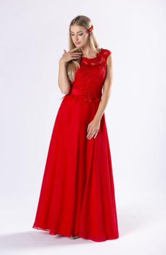 Sukienka maxi z gorsetowym wiązaniem